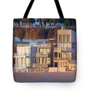 At Home On Santa Monica Beach Tote Bag