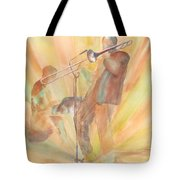 At One With The Music Tote Bag
