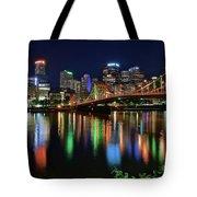 At Rivers Edge In Pittsburgh Tote Bag