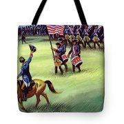 At Saratoga The Colonists Won Victory Tote Bag
