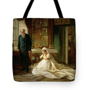 At The Altar Tote Bag by Firs Sergeevich Zhuravlev