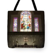 At The Altar In Church Of The Presidents Tote Bag