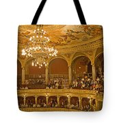 At The Budapest Opera Tote Bag by Madeline Ellis