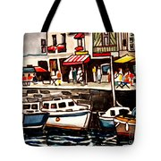 At The Cafe Tote Bag