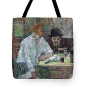 At The Cafe La Mie About 1891 Tote Bag