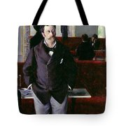 At The Cafe Rouen Tote Bag
