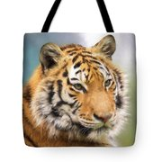 At The Center - Tiger Art Tote Bag