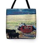 At The Cody Rodeo Tote Bag by Jan Amiss Photography