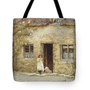 At The Cottage Door Tote Bag
