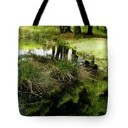 At The Edge Of The Forest Pond. Tote Bag