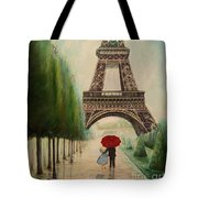At The Eiffel Tower Tote Bag