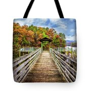 At The End Of The Dock Tote Bag
