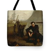 At The Front Tote Bag by George Cochran Lambdin