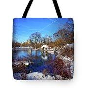 At The Frozen Lake Tote Bag
