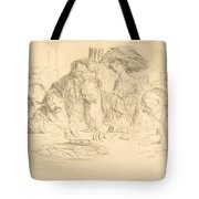 At The Gambling Table (second Plate) Tote Bag