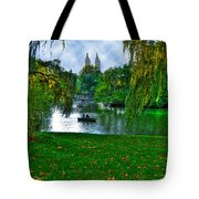 At The Lake In Central Park Tote Bag