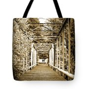 At The Other End Of The Old Bridge Tote Bag