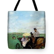 At The Races In The Countryside,  Tote Bag