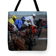 At The Racetrack 1 Tote Bag
