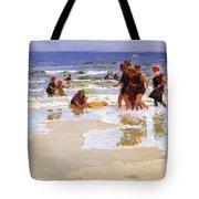 At The Seashore Edward Henry Potthast Tote Bag