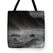 At The Sight Of The Wave Tote Bag