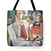 At The Tea Break Tote Bag