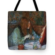 At The Toilet, Madame Poupoule Tote Bag
