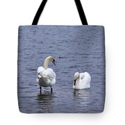 At Your Service. Mute Swan Tote Bag
