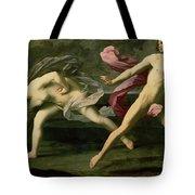 Atalanta And Hippomenes Tote Bag by Guido Reni