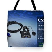 Aten's 2 Port Usb Cable Kvm Switch - Cs22u Tote Bag