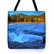 Athabasca Falls In Jasper National Park Tote Bag