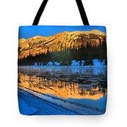 Athabasca River Glow Tote Bag