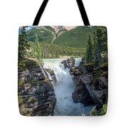 Athabaska Falls, Mt. Hardisty Tote Bag