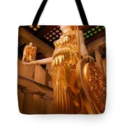 Athena With Nike Tote Bag