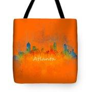 Atlanta City Skyline Uhq V4 Tote Bag