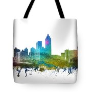 Atlanta Cityscape 01 Tote Bag