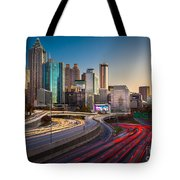 Atlanta Downtown Lights Tote Bag