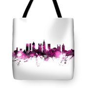 Atlanta Georgia Skyline Pink Tote Bag