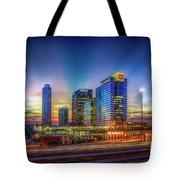 Atlanta Midtown Atlantic Station Starburst Atllanta Georgia Art Tote Bag
