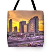 Atlanta Midtown Atlantic Station Sunset Tote Bag