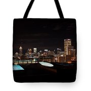 Atlanta Night Skyline Tote Bag