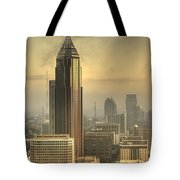 Atlanta Skyline At Dusk Tote Bag