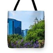 Atlanta Skyline From Atlanta Botanical Garden Tote Bag