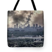 Atlanta Skyline Panoramic Tote Bag