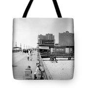 Atlantic City 1920 Boardwalk Promenade, Beach Sand, Signs Apollo Theatre, Mitzi  Tote Bag