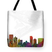Atlantic City Cityscape And Streetmap Skyline Tote Bag