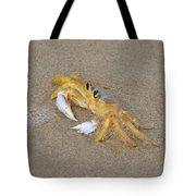 An Atlantic Ghost Crab Playing In The Tide 2 Tote Bag