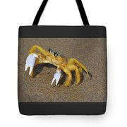 An Atlantic Ghost Crab Playing In The Tide 3 Tote Bag