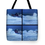 Atlantic Storm Hitting Lahinch Tote Bag