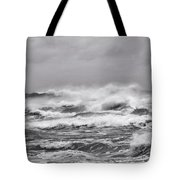 Atlantic Storm In Black And White Tote Bag